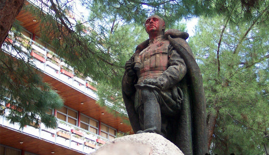 Estatua de Franco que ya fue retirada de una plaza de Guadalajara / Archivo