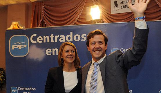 María Dolores de Cospedal junto a Carlos Velázquez, alcalde de Seseña | Foto Archivo