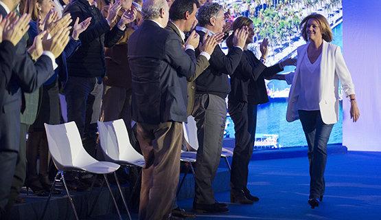 Cospedal en el acto de presentación de los candidatos del PP al 20D | Foto Archivo