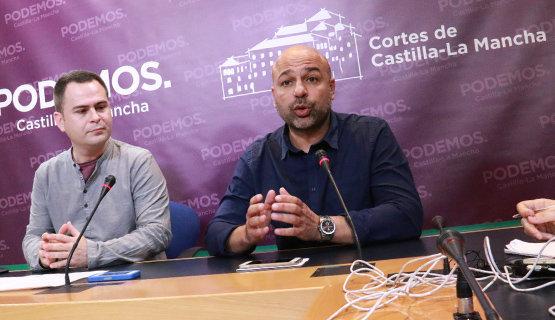 David Llorente y José García Molina, diputados regionales de Podemos | Foto Archivo