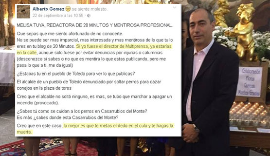 Alberto Gómez Mayoral, concejal del PSOE en Casarrubios del Monte | Facebook