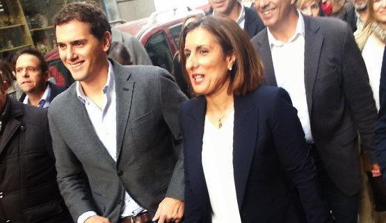 Albert Rivera junto a Ramírez, diputada provincial en Guadalajara | Foto Archivo