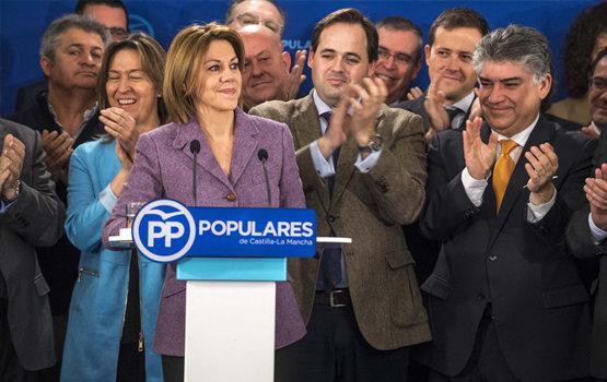 Cospedal arropada por dirigentes castellano‑manchegos del PP | EFE/Archivo