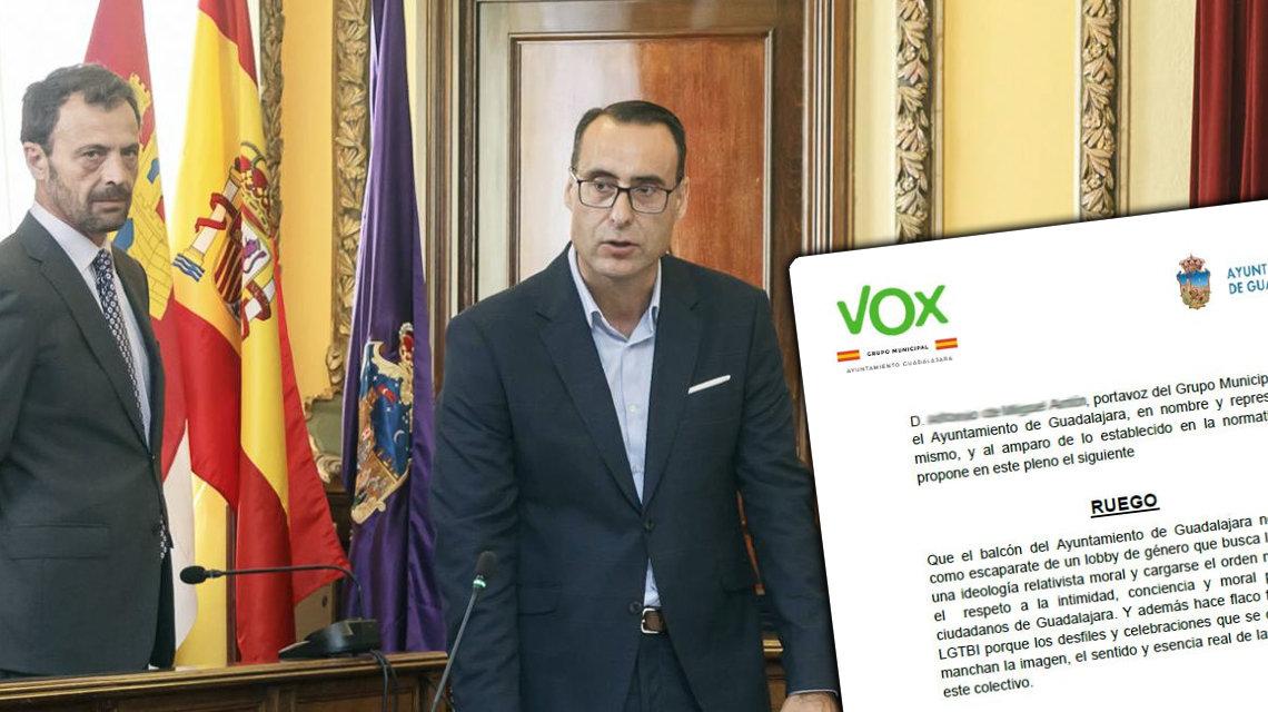 Vox pide al Ayuntamiento de Guadalajara censurar el Orgullo LGTBI y demanda a Unidas Podemos por 'revelarlo'